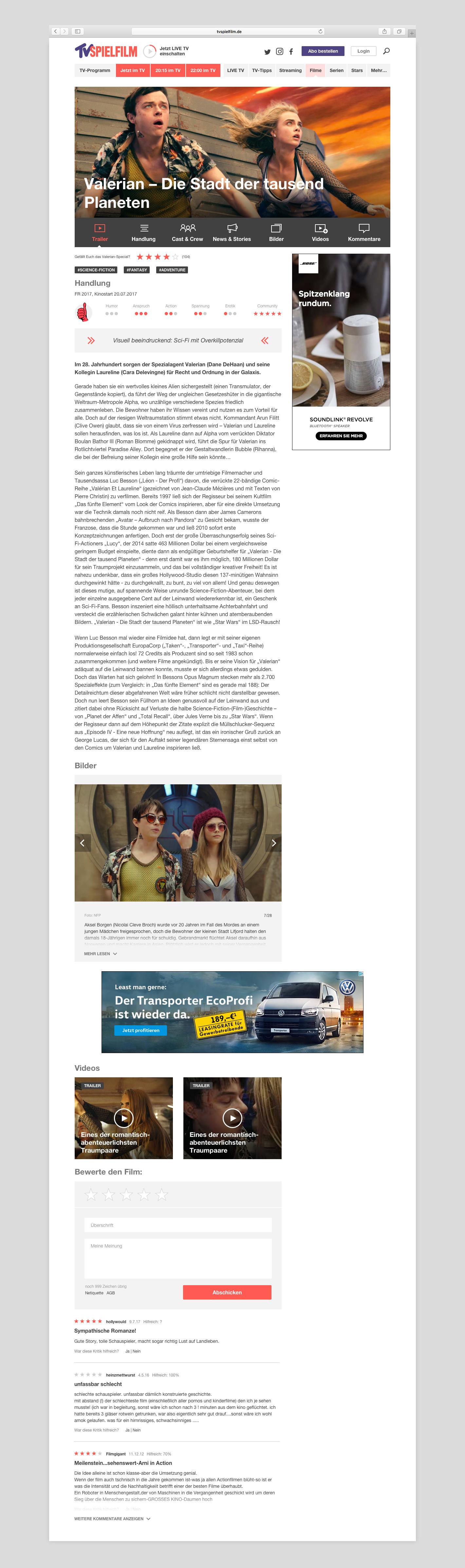 TVS-Filmkritik-Portfolio
